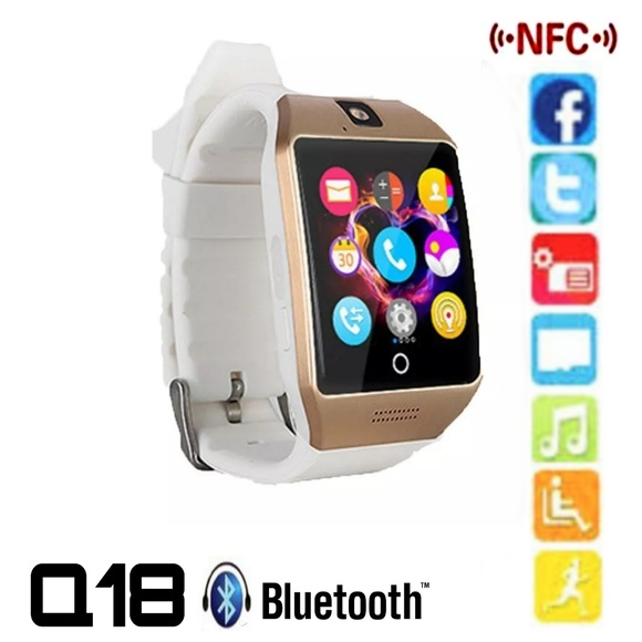 Q18 Smart Watch in Gold & White with Extras NWT